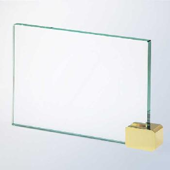 glass-achievement with brass holder