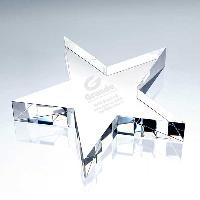glass-flat star paperweight