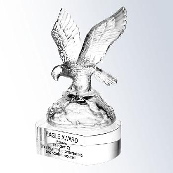 glass-soaring eagle clear crystal base