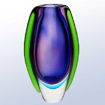 glass-the deep blue sea vase