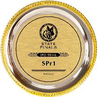 gift-gold rim silver plated tray