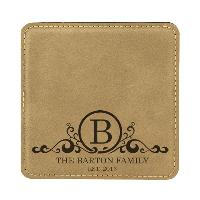 gift-square leatherette coaster