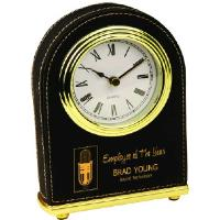 gift-laserable leatherette-desk clock