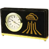 gift-laserable leatherette-horizontal clock