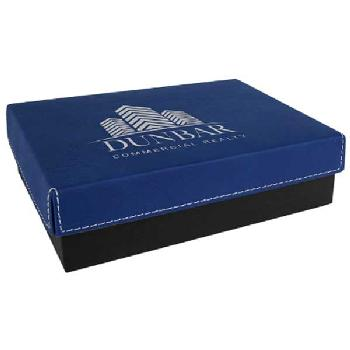gift-leatherette gift box-blue