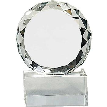 glass-round faceted circle