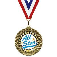 medal-sunburst mylar series-all star