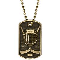 medal-3D dog tag-hockey