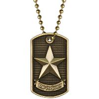 medal-3D dog tag-star performer