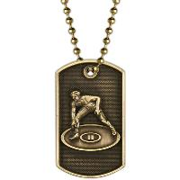 medal-3D dog tag-wrestling