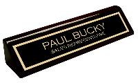 nameplate-black pianowood finish desk wedge