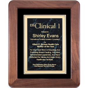 plaque-american walnut frame