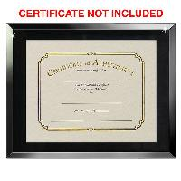 plaque-mirror certificate frame