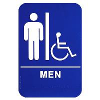 ada sign-men & wheelchair