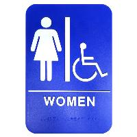 ada sign-women & wheelchair