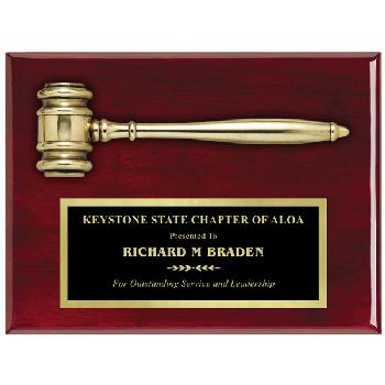 plaque-rosewood gavel