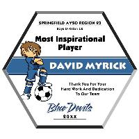 plaque-full color soccer ball plaque