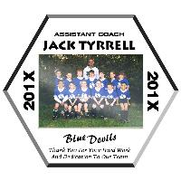 plaque-b&w soccer ball photo plaque