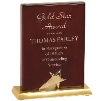 plaque-pianowood star standing