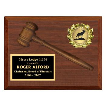 plaque-gavel