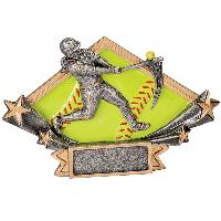 resin-female softball diamond star series