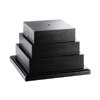 bases-three tiered black wood