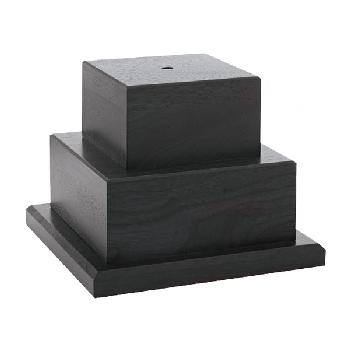 bases-two tiered black wood
