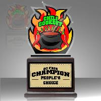 trophy-chili cookoff acrylic trophy