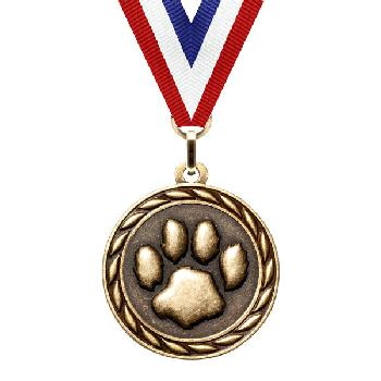 medal-scholastic series-paw print